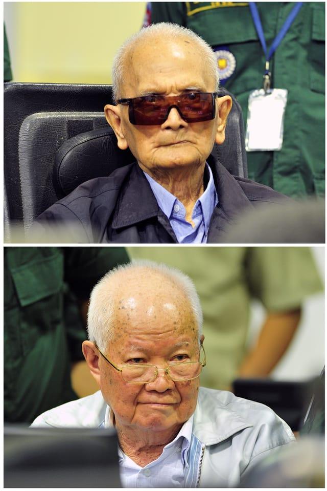 Die letzten Überlebenden der Roten-Khmer-Führungsriege: Nuon Chea (oben) und Khieu Samphan.