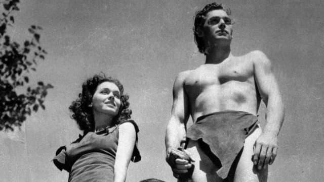 Johnny Weissmüller und Maureen O'Sullivan im Film «Tarzan und Jane» aus dem Jahr 1936.