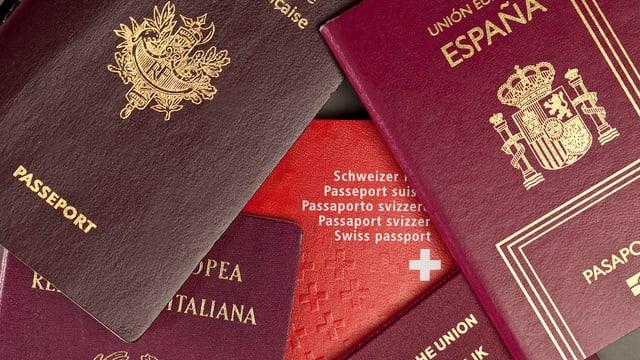 Divers pass da l'UE ed in pass da la Svizra giaschan sin maisa