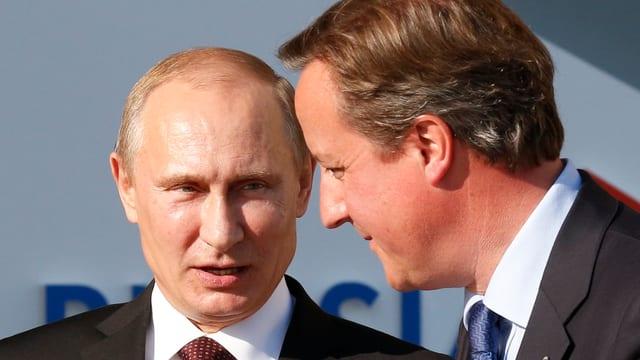 David Cameron und Wladimir Putin.