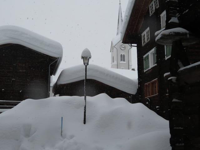Schnee in Ulrichen