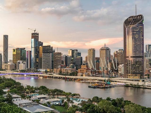 Die Stadt Brisbane in Australien.