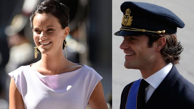 Sofia Helqvist und Prinz Carl Philip von Schweden.