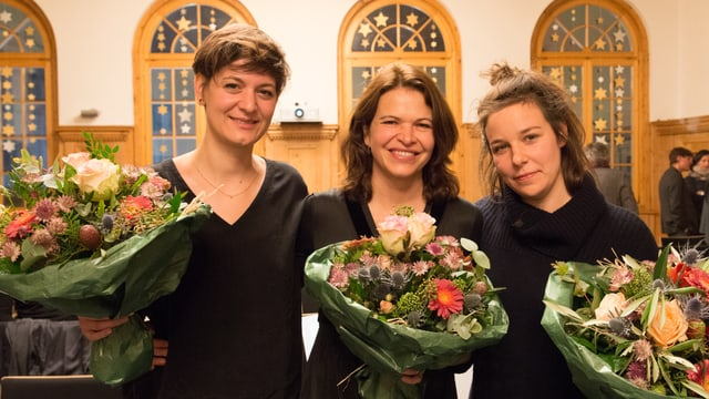 Da sanestra; Pia Valär, Cordula Seger e Sara Francesca Hermann