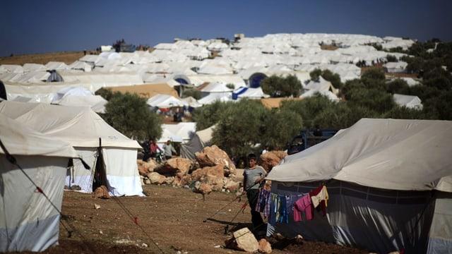 Flüchtlingscamp Atmeh an der Grenze zur der Türkei: