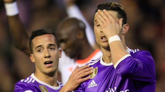 Cristiano Ronaldo erzielte zwar einen Treffer, doch Real verlor trotzdem.
