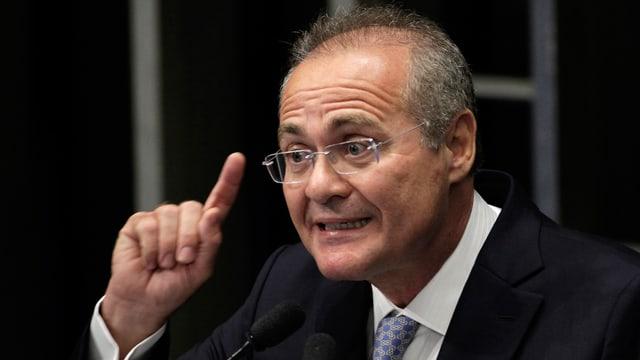 Der brasilianische Senatspräsident Renan Calheiros