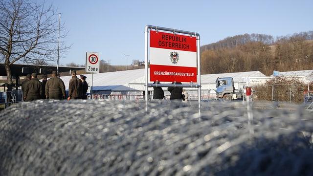 Grenzposten Spielfeld in Österreich.