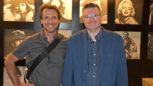 Suenter la premiera dal film a Cuira: Il reschissur Daniel von Aarburg ensemen cun il protagonist principal, Christoph Meili.