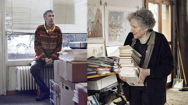 Jean-Marc Lovay (links) und Erica Pedretti sind die Preisträger.
