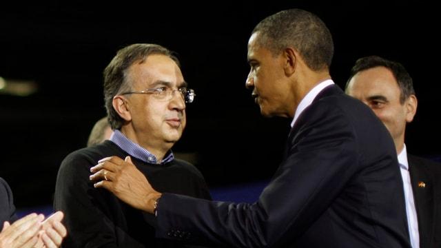 Sergio Marchionne und Barack Obama