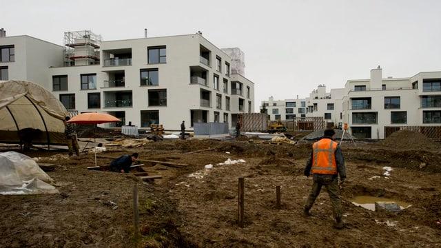 Neubauten in Zuger Gemeinde Baar.