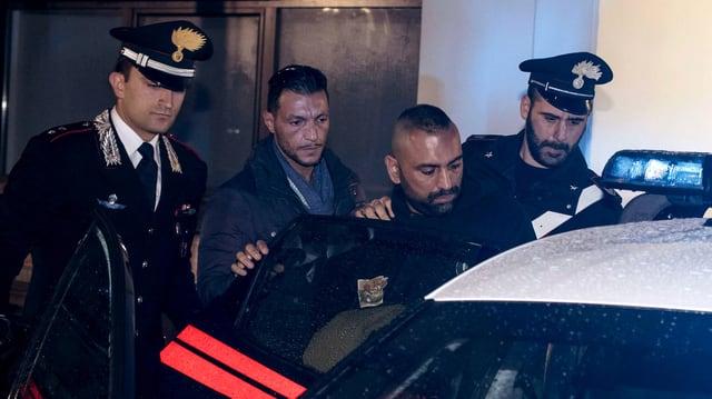 Verfhaftung des Mafia-Mitglieds nach der Attacke auf den RAI-Journalisten