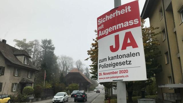 Plakat Ja zum Polizeigesetz.