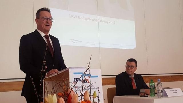 Martin Schmid, president e Michael Roth, il directur da las Ovras Electricas Engiadina