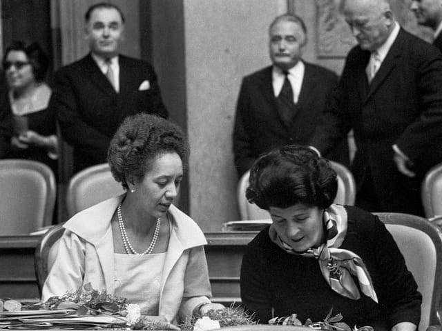 Thilo Frey und Liselotte Spreng im Nationalrat 1971