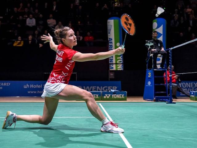 Badminton-Spielerin.
