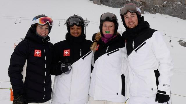 Simona Meiler, Marvin James, Sandra Gerber und Tim Watter (von links).