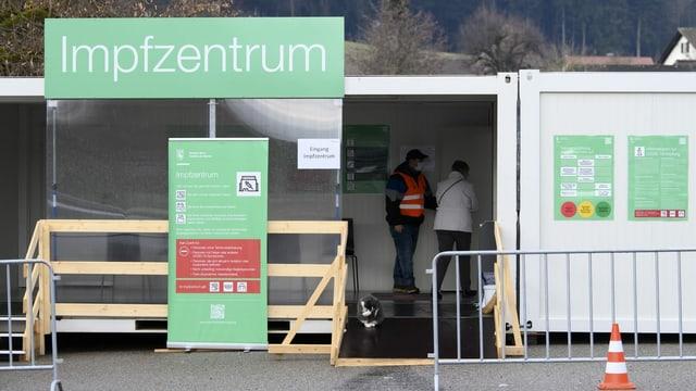 Container des Impfzentrums in Burgdorf