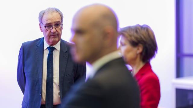 Bundesräte Parmelin, Berset und Sommaruga