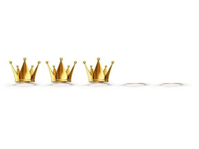Bewertung drei Kronen von fünf