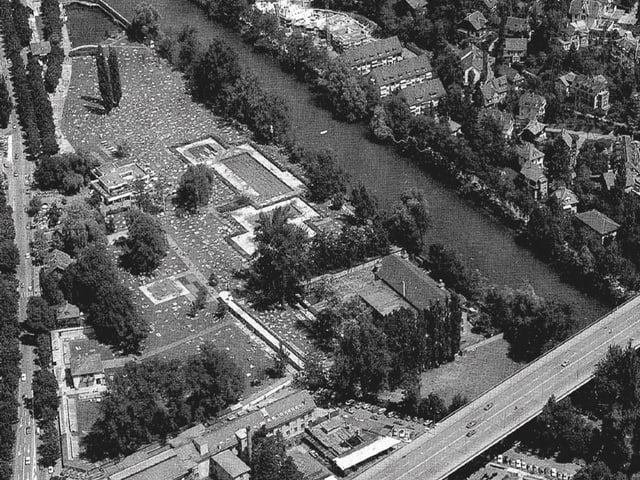 Luftaufnahme vom Marzili 1970.