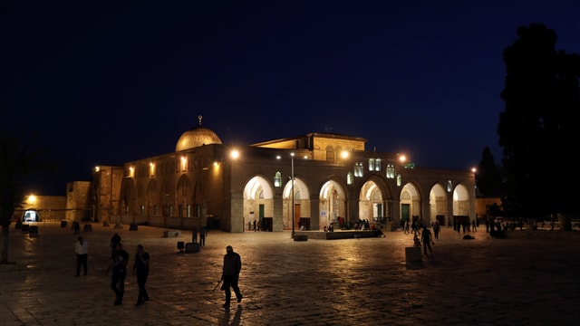 Al-Aqsa-Moschee auf dem Tempelberg.