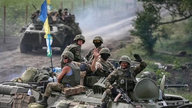 Ukrainische Truppen nahe Slavianks am
