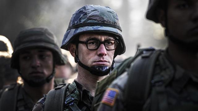US-Soldat mit Helm.