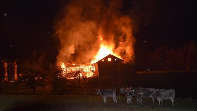 L'incendi a Grüsch