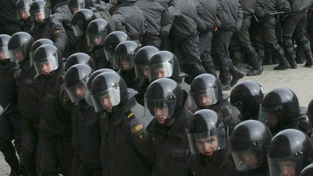 Polizisten in Weissrussland.