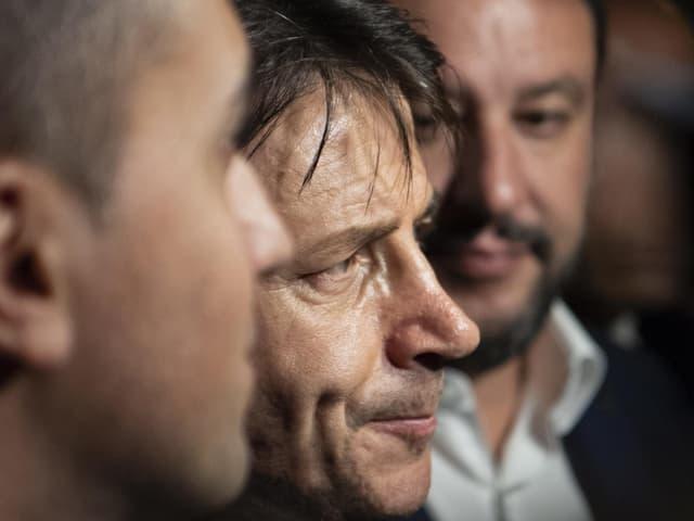 Di Maio, Conte und Salvini