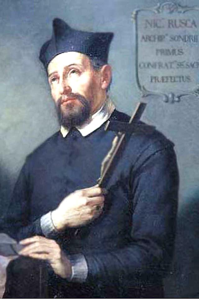 Gemaltes Porträt von Nicolò Rusca