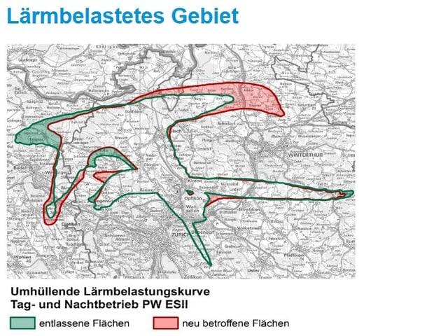 Karte mit grünen und roten Zonen