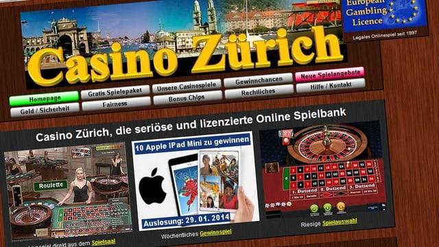 screenshot von casino-zuerich.com