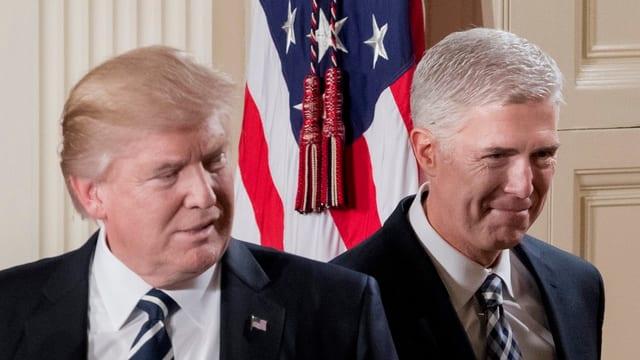 US-Präsident Donald Trump und Richter Neil Gorsuch.