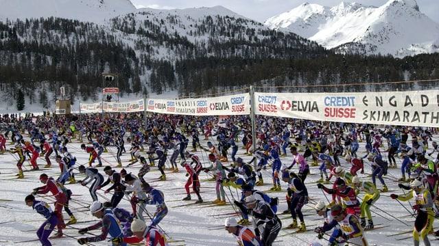 Maraton da skis engiadinais - partenza