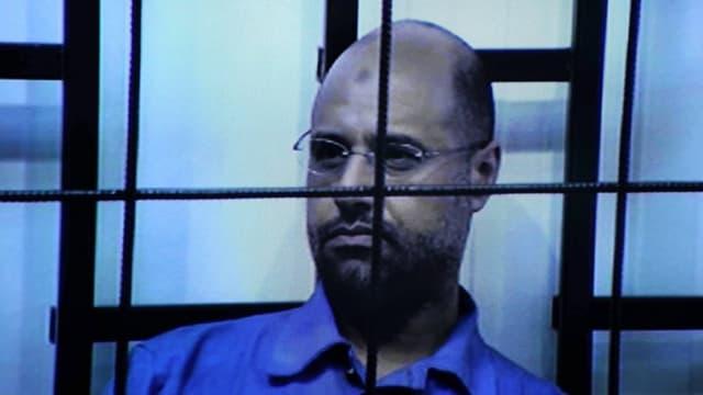 Saif al-Islam durant il process a Zintan.