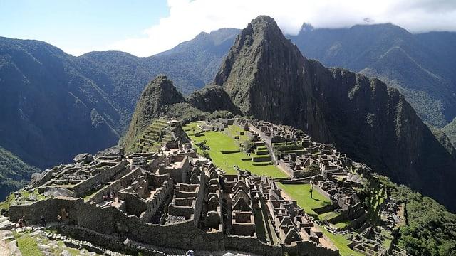 Blick auf die Inka-Stätte Machu Picchu.