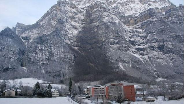 Steinschlag in Glarus