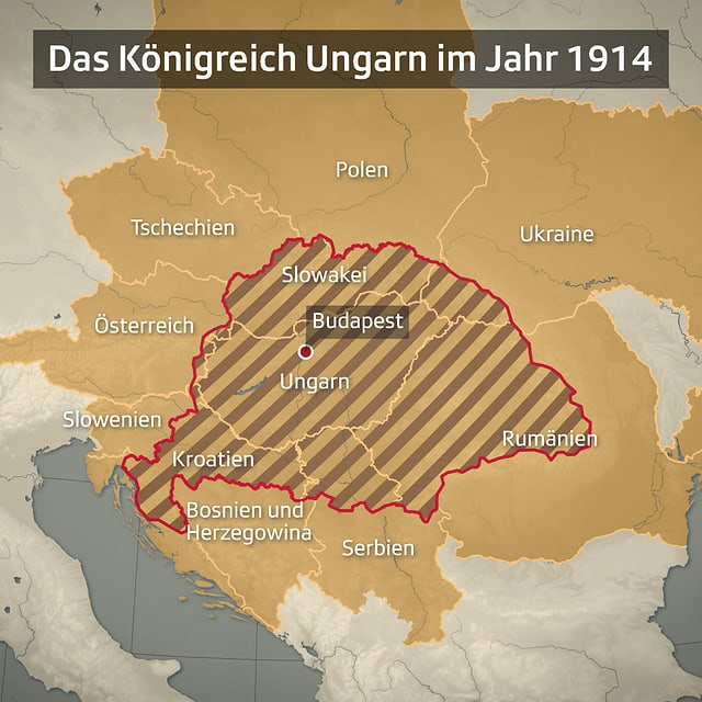 Ungarn-Karte