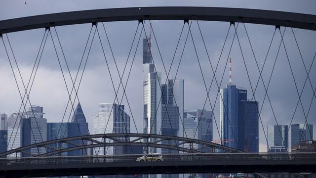 Die Skyline von Frankfurt.
