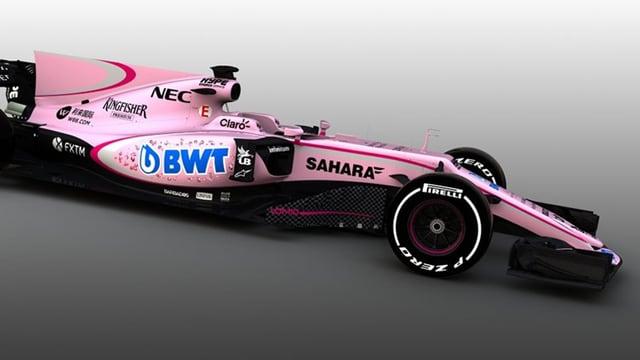 Der pinkfarbene VJM10 von Force India.