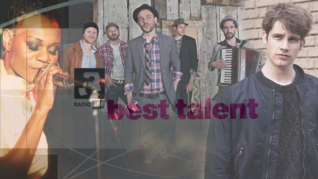 Collage mit Alina Amuri, Troubas Kater, Damian Lynn und «Best Talent»-Logo.