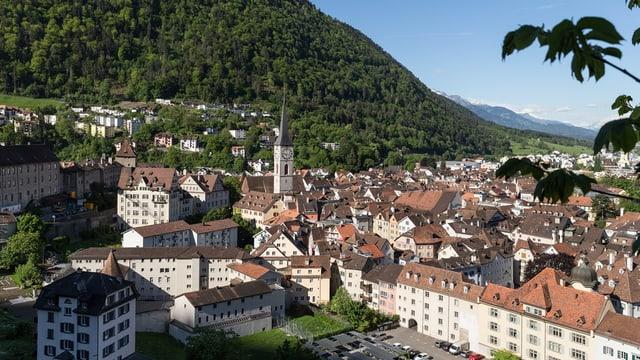 Die Stadt Chur aus der Vogelperspektive.