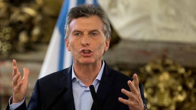 Il president Mauricio Macri durant in pled.