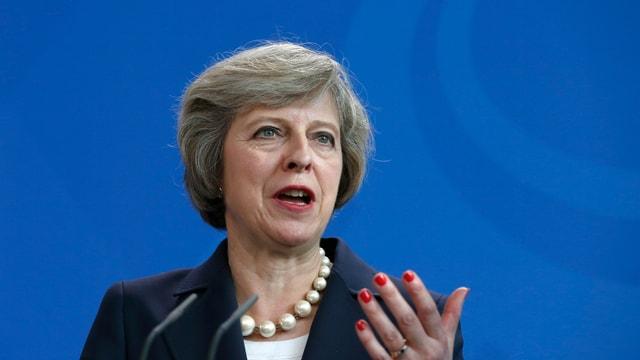 La primministra britannica Theresa May.