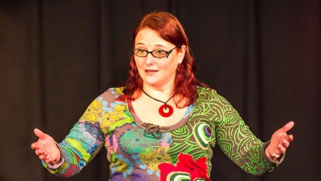 Die deutsche Polit-Kabarettistin Anny Hartmann