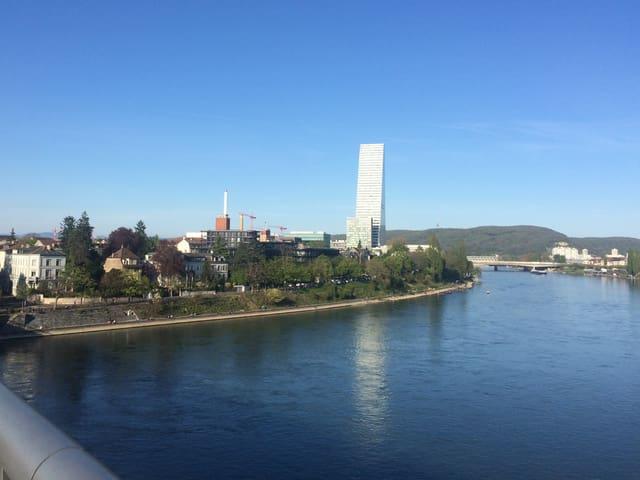 Der Rocheturm von Brücke aus gesehen, also weit weg.