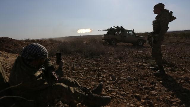 Soldaten mit Panzer..